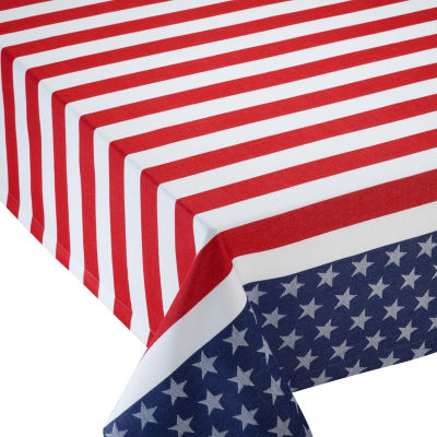 Design Imports Stars & Stripes Jacquard Tablecloth