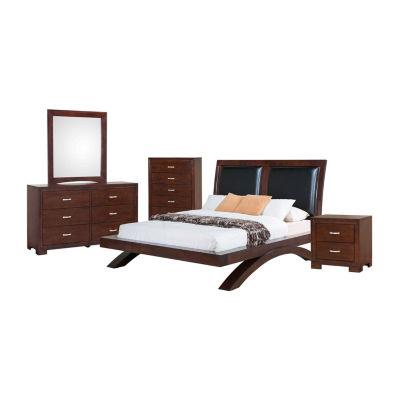 Picket House Furnishings Zoe Platform with Upholstered Headboard 5-pc. Bedroom Set