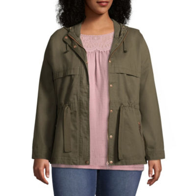 St. John's Bay Hooded Anorak Jacket - Plus