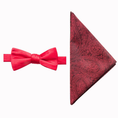JF J.Ferrar Paisley Bow Tie Set