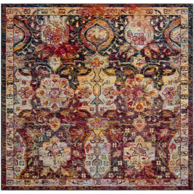 Safavieh Crystal Collection Dolkar Oriental Square Area Rug