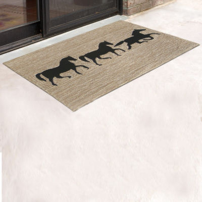 Liora Manne Frontporch Horses Indoor/Outdoor Rug