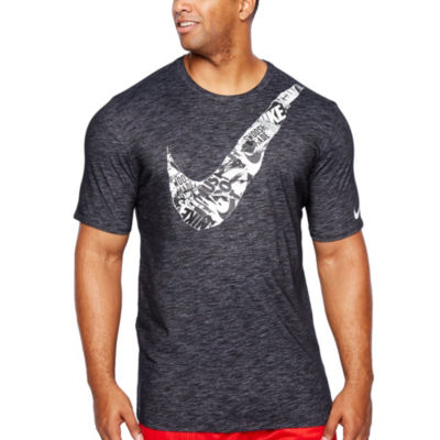 Nike Mens Crew Neck Short Sleeve Moisture Wicking T-Shirt-Big and Tall