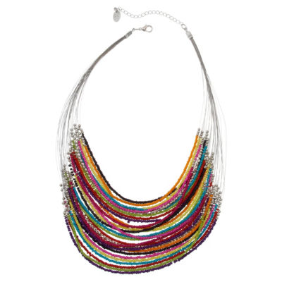 EL by Erica Lyons 4.25 El Playful Brights Womens Beaded Necklace