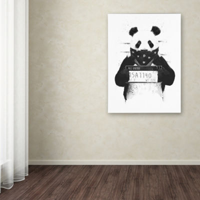 Trademark Fine Art Balazs Solti Bad Panda Giclee Canvas Art