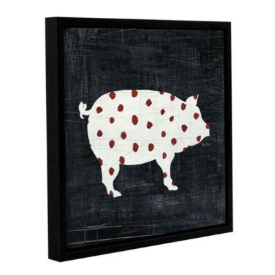 Modern Americana Farm I Floater-Framed Gallery Wrapped Canvas