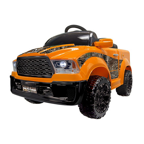 Best Ride On Cars Realtree Truck 12v Orange Electric Ride On