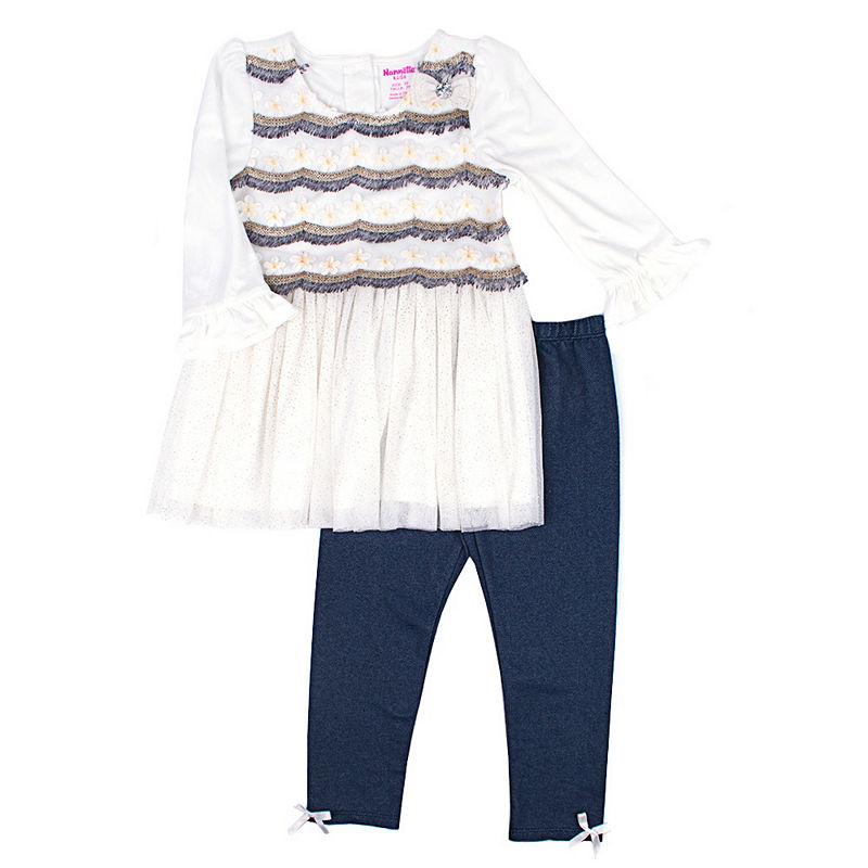 Nanette Baby 2-pack Legging Set, Girls, Ivory, Size 3t