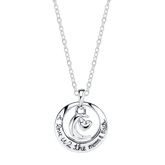 Footnotes Friend Sterling Silver 18 Inch Cable Round Pendant Necklace