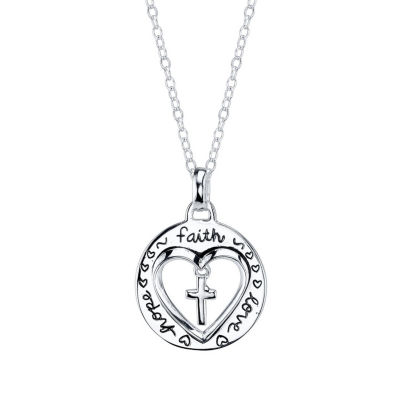 Footnotes Footnotes Womens Sterling Silver Pendant Necklace