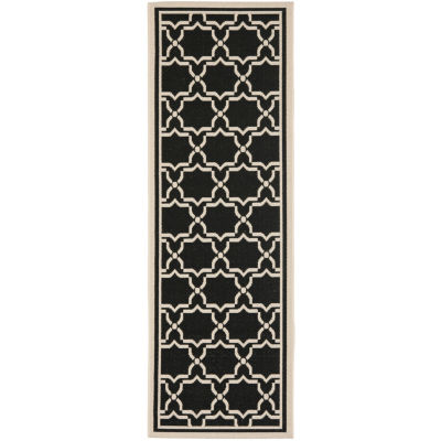 Safavieh Courtyard Collection Caymen Oriental Indoor/Outdoor Runner Rug