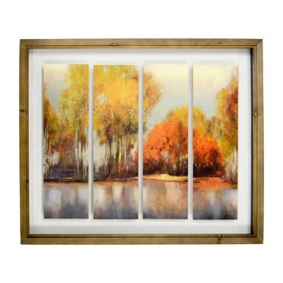 New View Fall Landscape Wall Sign