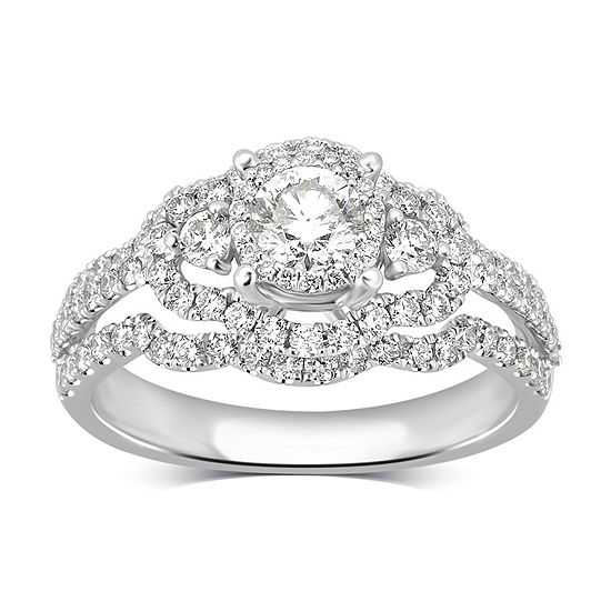 LIMITED QUANTITIES! Womens 1 1/4 CT. T.W. Round White Diamond 14K Gold Engagement Ring