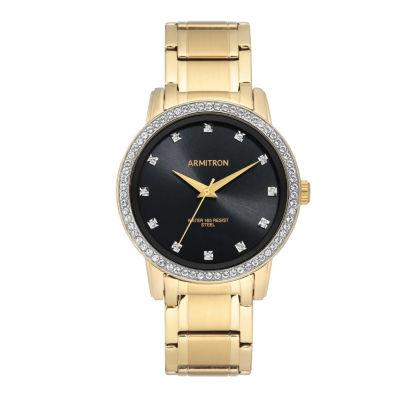 Armitron Unisex Gold Tone Bracelet Watch-20/5328bkgp