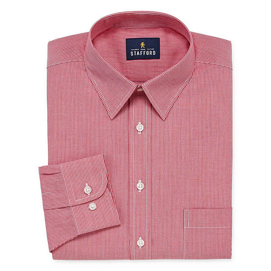 : Stafford Super Shirt Dress Shirt with Comfort Stretch, Stain Repel and Wrinkle Free