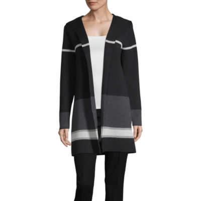 Alyx Womens Long Sleeve Open Front Stripe Cardigan