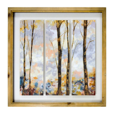 New View Birch Trees Wall Sign