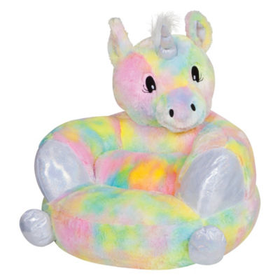Trend Lab Children's Plush Rainbow Unicorn Character Chair - Kids
