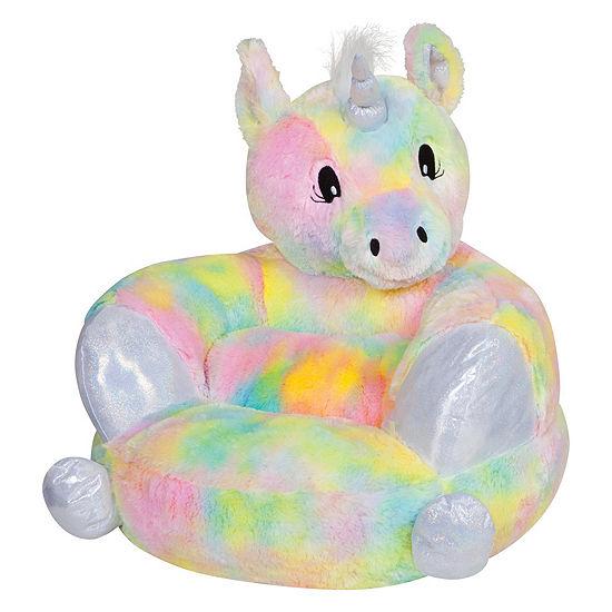 Trend Lab Childrens Plush Rainbow Unicorn Character Chair Kids Chair