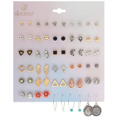 Decree Multi Color 12mm Stud Earrings