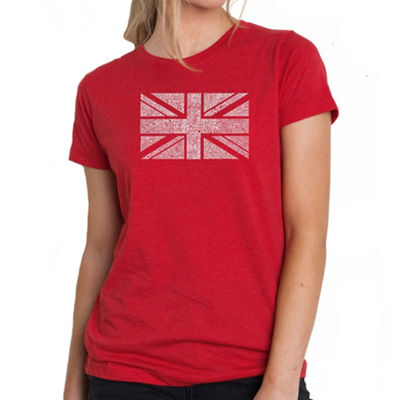 Los Angeles Pop Art Women's Premium Blend Word ArtT-shirt - UNION JACK