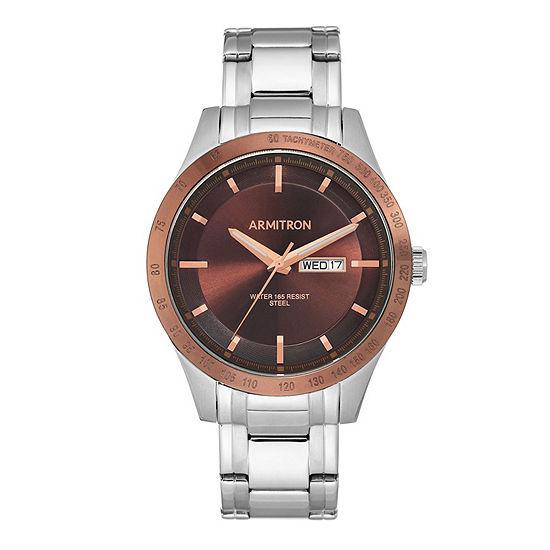 Armitron Unisex Adult Silver Tone Stainless Steel Bracelet Watch-20/5174bnbt