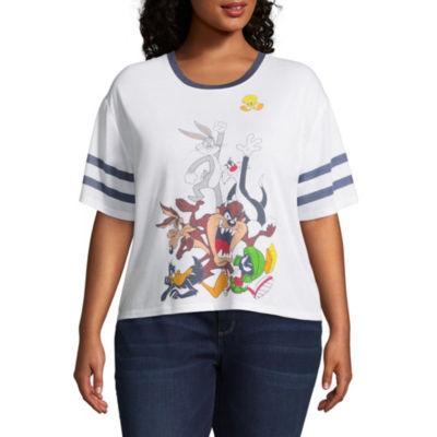 Looney Tunes Varsity Tee - Juniors Plus