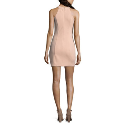 Speechless Sleeveless Cut Outs Bodycon Dress-Juniors