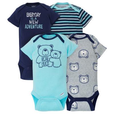 Gerber 4-pc. Bodysuit Set-Baby Boys