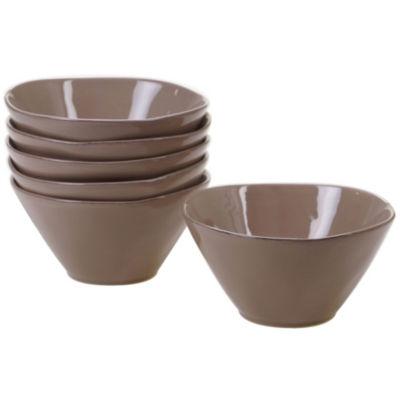 Certified International Harmony Taupe 6-pc. Ice Cream Bowl