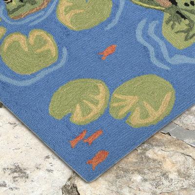 Liora Manne Frontporch Frogs Indoor/Outdoor Rug