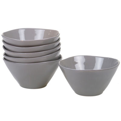 Certified International Harmony Grey 6-pc. Ice Cream Bowl