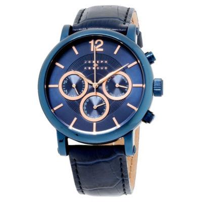Joseph Abboud Mens Blue Strap Watch-Ja3095bu648-104