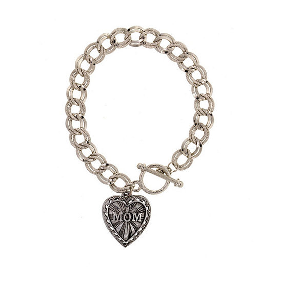 1928 Mothers Day Items Silver Tone Charm Bracelet