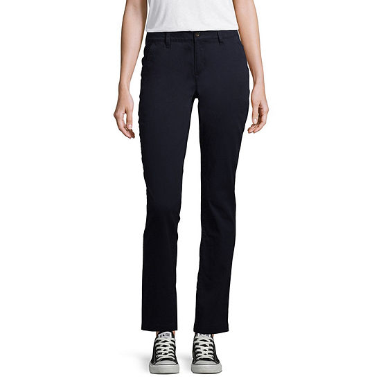 Arizona Slim Fit Straight Pants-Juniors