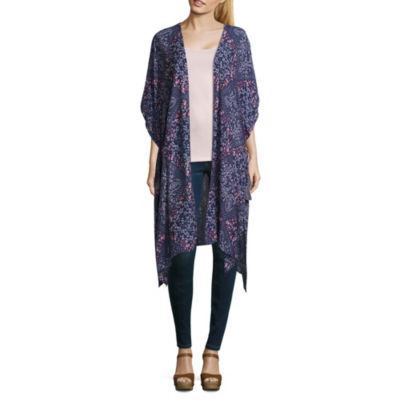 Rewind Short Sleeve Pattern Kimono-Juniors