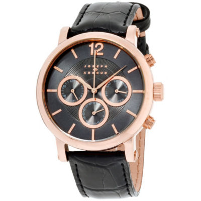 Joseph Abboud Mens Black Strap Watch-Ja3095rg648-264