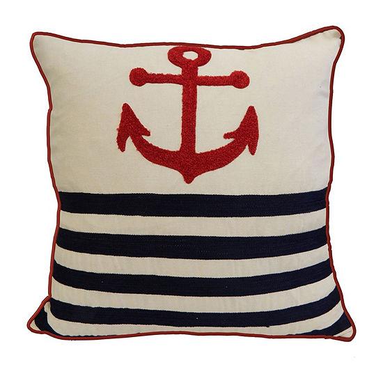 Coastal Pride Square Throw Pillow