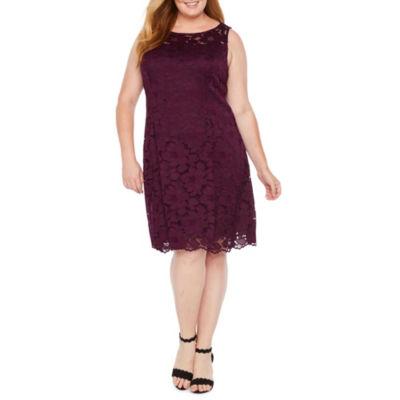 Liz Claiborne Lace Fit & Flare Dress - Plus