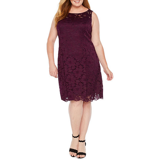 Liz Claiborne Lace Fit Flare Dress Plus
