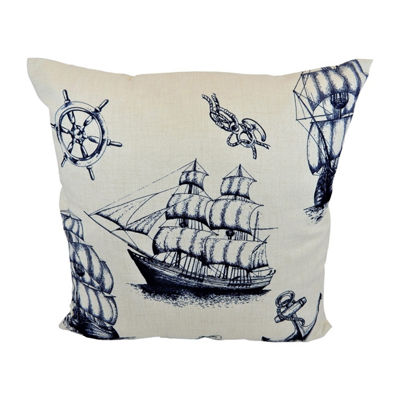 Cape Cod Square Throw Pillow