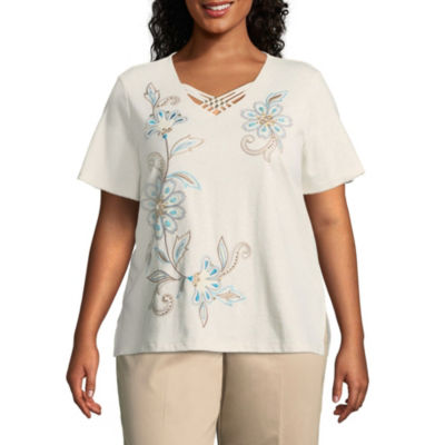 Alfred Dunner Scottsdale Scroll Floral Tee - Plus