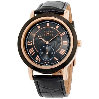 Joseph Abboud Mens Black Strap Watch-Ja3099rg648-362