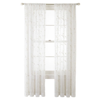 JCPenney Home Harmon Sheer Rod- Pocket Curtain Panel