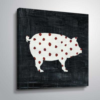 Modern Americana Farm I Gallery Wrapped Canvas