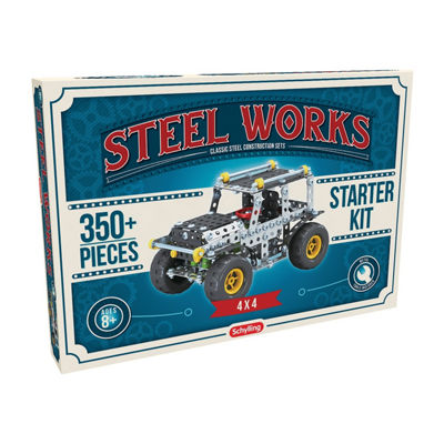 Steel Works Metal  4 X 4 Vehicle Construction Set