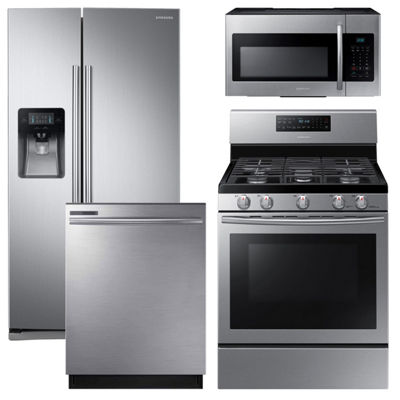Samsung 4-pc. Gas Kitchen Package - Stainless Steel
