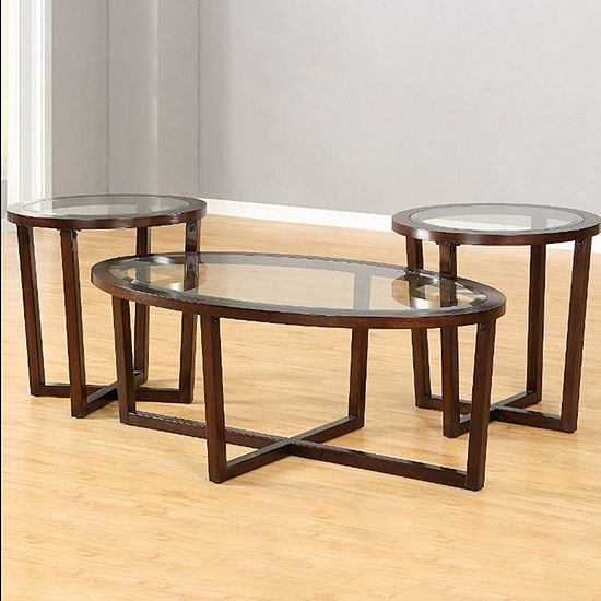 Jcpenney Table: Simmons® Langley Park Coffee Table Set, Color: Merlot