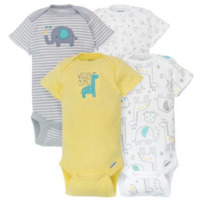 Gerber 4-pc. Bodysuit Set-Baby Unisex