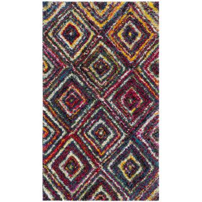 Safavieh Bloom Geometric Shag Rectangular Rugs